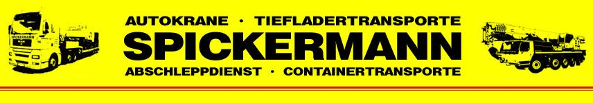 Spickermann GmbH in Hannover- Autokrane, Tiefladertransport, LKW mit Ladekran, Abschleppdienst
